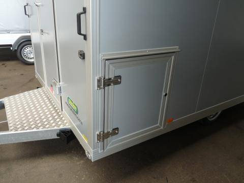 External door for gas cylinder cabinet front left in direction of travel
