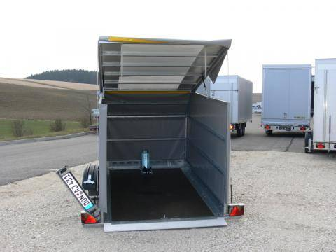 High tarpaulin loose without mounting, load height 1500 mm, tarpaulin roof can be extended 45° chamfered 600x600 mm,